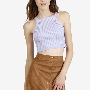 Thick Ribbed Crop Tank - Lavender