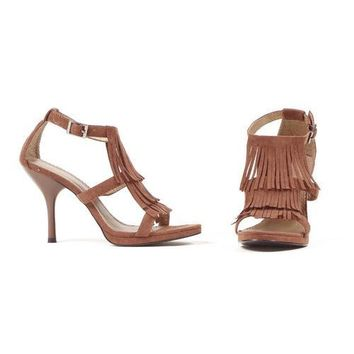 "4."" Sandal With Fringe"