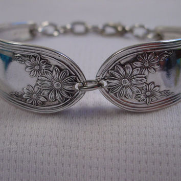Beautiful Spoon Bracelet With Flowers Handmade Fork and Spoon Jewelry b13