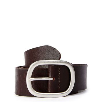 Oval Leather Belt - Bags & Accessories