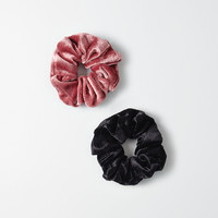 AEO Velvet Scrunchie Duo , Multi