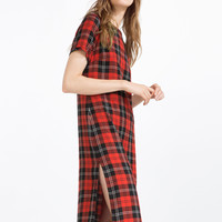 LONG CHECK DRESS - Maxi-DRESSES-WOMAN | ZARA United Kingdom