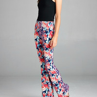 Mystic Rose Printed Bell Bottoms