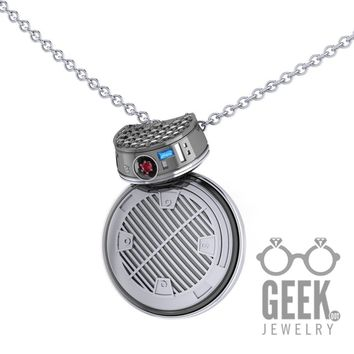 NEW!  BB-9  Kinetic Pendant,  Sterling Silver Imperial BB Necklace