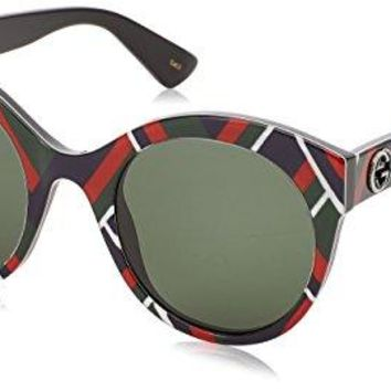 Gucci GG0028S RED BLUE/GREEN 52/24/140 women Sunglasses