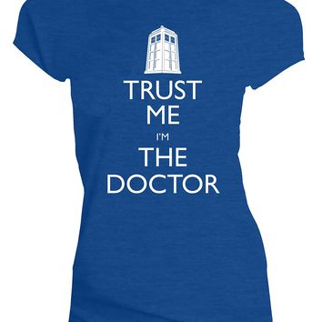 Doctor Who Classic Womens T-Shirt Trust Me I'M The Doctor