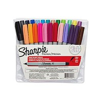 Sharpie® Permanent Markers, Ultra Fine Point, Assorted Colors, 24/pk (75847) | Staples