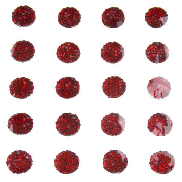 Red Sugar Self Adhesive Gem Stick On 10mm 225pc Lot 5 Triveni 3D Round Sparkle
