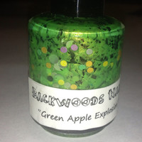 Green Apple ExplosionUnique Green Handmade Nail by Backwoodsnails