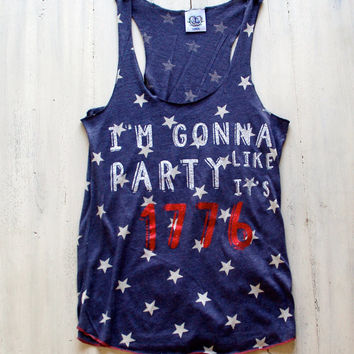 I'm Gonna Party Like It's 1776  Tank Top - 4th of July - America