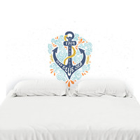 Deep Blue Sea Headboard Decal