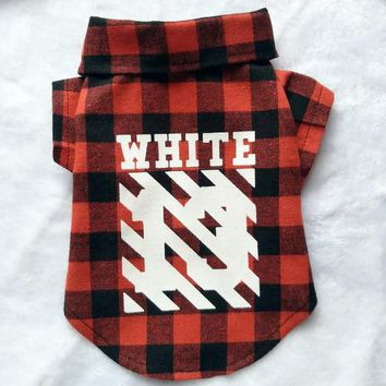 Paw-White Flannel Shirt