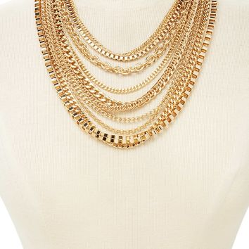 Box Chain Layered Necklace