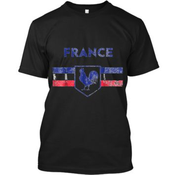 France Soccer Jersey Flag Shirt Rooster Men Women Kid Sizes Custom Ultra Cotton