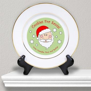 Christmas Plate with Engraved Message