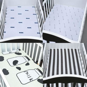 Organic Cotton Fitted Baby Crib Sheet  For Boys&Girls