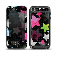 The Neon Highlighted Polka Stars On Black Skin for the iPod Touch 5th Generation frē LifeProof Case