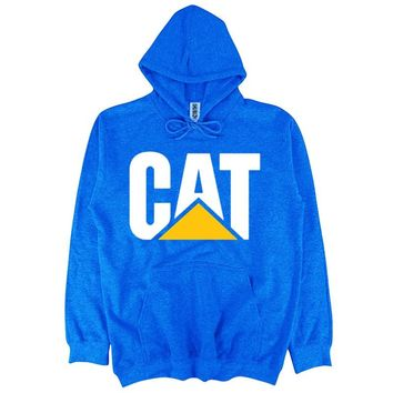 men/women Hooded Pullover cotton sweatshirt Cat Caterpillar Tractor Print autumn winter streetwear fashion casual hoodies