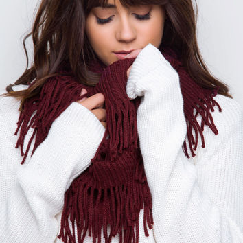Arely Knit Infinity Scarf