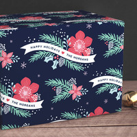 Festive Floral Wrapping Paper