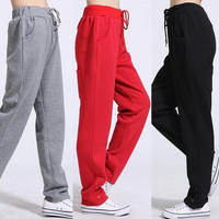 Women's Lady Casual Drawstring Sweatpant Sports Harem Pants Trousers Legging = 1946137156