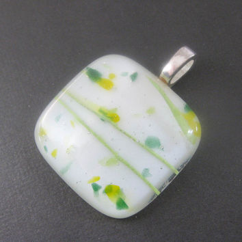 Fused Glass Slide Pendant Fused Glass Jewelry Another Good Day by mysassyglass