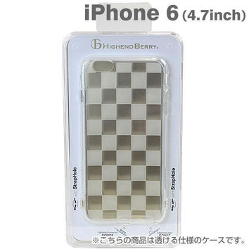 Highend Berry Original Soft TPU Case with Protective Cap for Charging/Headphones Port for iPhone 6s / 6 (Checkered)