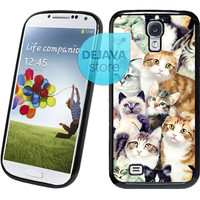 Cute Cat Painting Samsung Galaxy S4 Case