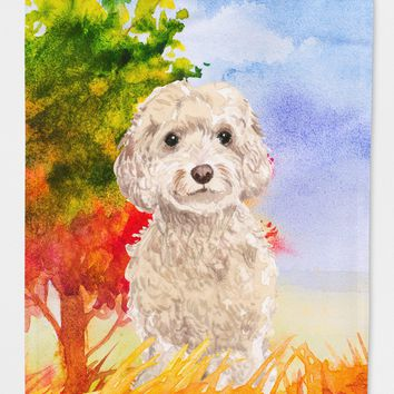 Fall Goldendoodle Flag Canvas House Size CK1949CHF