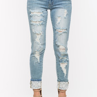 Flower Power Girlfriend Jeans