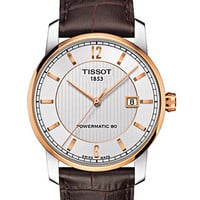 Tissot Mens Rose Gold Tone Titanium Automatic Watch