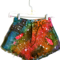GALAXY RAINBOW SHORTS - Size 3 - Size 22/23 - Uk 5