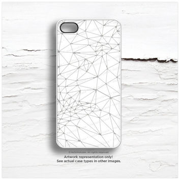 iPhone 6S Case, iPhone 6S Plus Case Gray Geometric, iPhone 5s Case Geometric, White iPhone 6 Plus Case, Gray Geo Print iPhone 5C Case T37