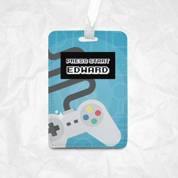 Gamer's personalized Joypad bag tag, personalized luggage tag, Kid's bag tag, Bag Tag, Travel Tag, Card Holder, Personalized Backpack Tag