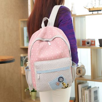 Kawaii students navy backpack