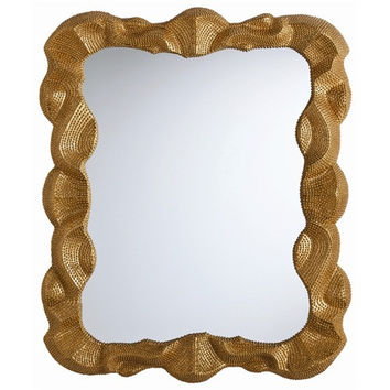 Baroque Antique Gold Leaf Wall Mirror - large