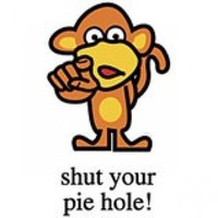 Shut Your Pie Hole NEW Monkey T Shirt ALL SIZES To 4X 5X | FloozeesDoozees - Clothing on ArtFire