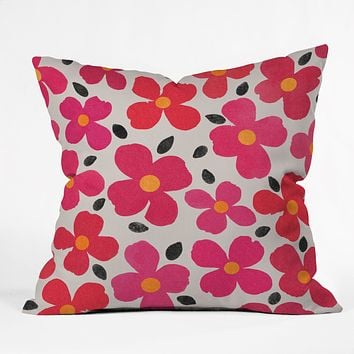 Garima Dhawan Dogwood Berry Throw Pillow