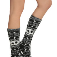 The Nightmare Before Christmas Fair Isle Knee-High Socks