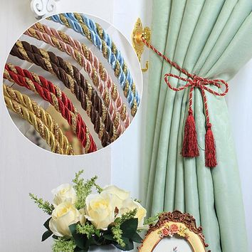 1PCS Cortina Tieback String Tassel Curtain Rope Floral Curtain Accessories Flower Curtain Tie Backs Window Curtain Tassel 40