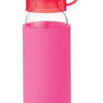 glass & silicone water bottle (16 oz.)
