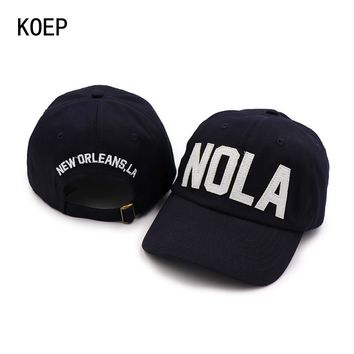 Trendy Winter Jacket KOEP 2018 New 100% Cotton Baseball Cap Embroidery Letter NOLA Snapback Caps Fitted Bone Casquette Hat For Men Custom Hats AT_92_12