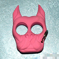 Brutus the Bull Dog Self Defense Keychain Pink Pack of 2