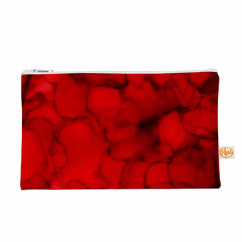"Claire Day ""Red"" Abstract Maroon Everything Bag"