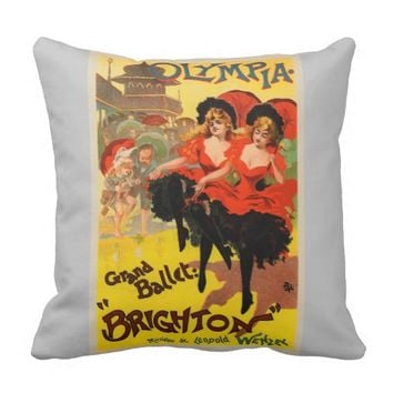 Vintage French poster art Pillow