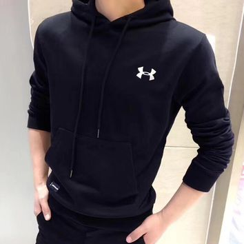 """Under Armour"" Men Simple Sport Casual Hooded Long Sleeve Sweater Sweatshirt Hoodie Tops"