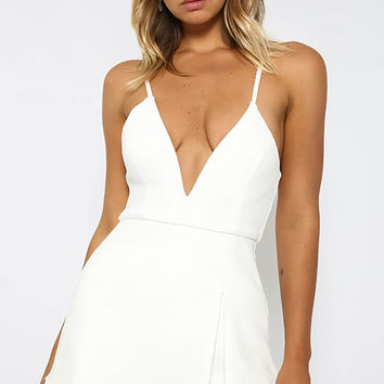 Behave Playsuit - White