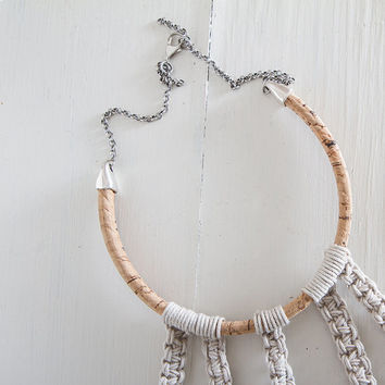 FREE SHIPPING Eco-friendly Necklace/ Crochet Necklace/ Choker/ boho chic necklace/ macrame necklace