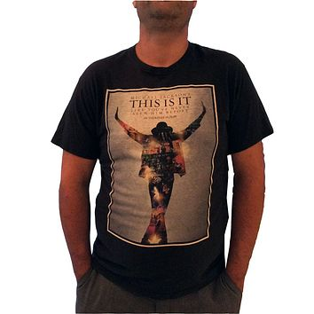 Michael Jackson T Shirt  This Is It  - 2009 Movie Promo NEW Large