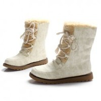 Hot Sale Warm-Keeping Style Fur Trimming and Rivets Embellished Snow Boots For Women China Wholesale - Sammydress.com
